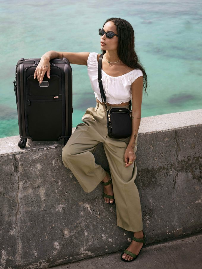 TUMI rolls out Alpha 3 travel luggage with Lenny & Zoe Kravitz