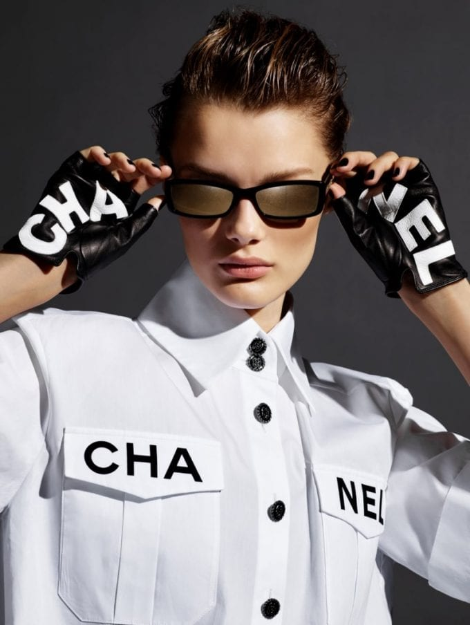 Chanel plays with pearl strands and gold accents on latest sunglasses