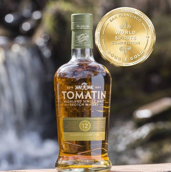 Tomatin Higland Malt Travel Retail range strikes gold