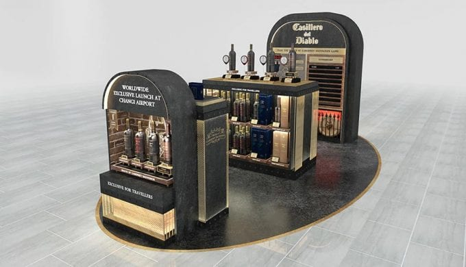 Casillero del Diablo pops up with Travel Exclusive wines at DFS Singapore Changi Airport