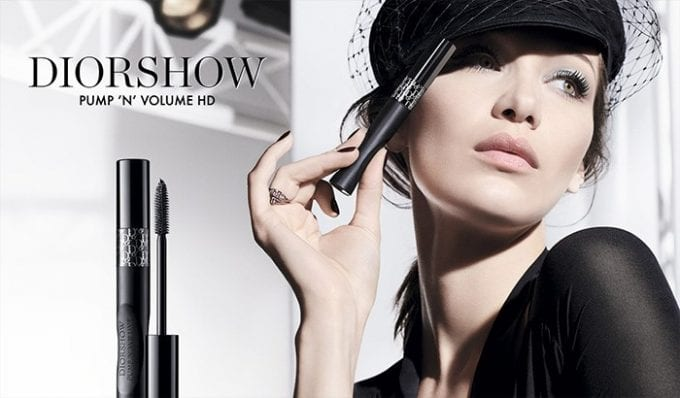 Bella Hadid fronts Dior's New Pump 'N' Volume Mascara