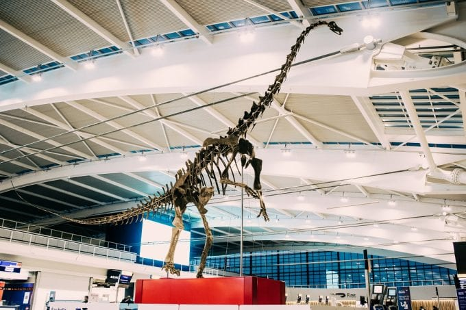 London Heathrow welcomes 155million year old dinosaur to Terminal 5