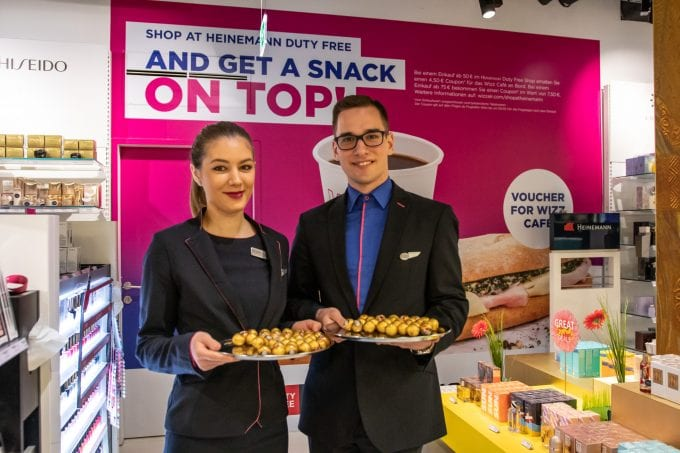 Heinemann Duty Free, Wizz Air and Vienna Airport team up to treat travellers