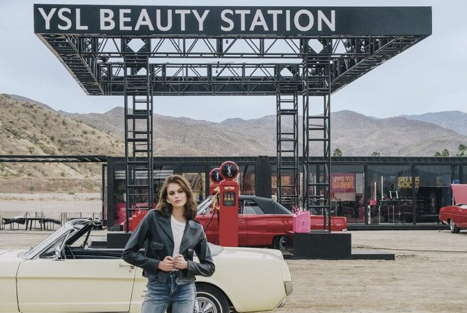 YSL Beauty takes Kaia Gerber on the perfect desert road trip