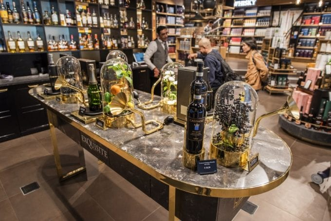 Heinemann's new look Exquisite Shop at Schiphol is a sensory treat for travellers