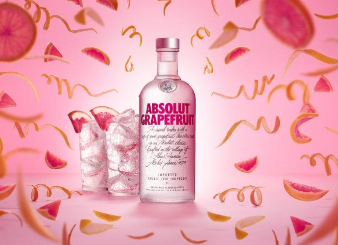 Absolut Grapefruit bursts into duty-free