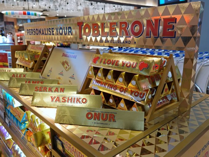 Now you can personalise your Toblerone at Istanbul New Airport