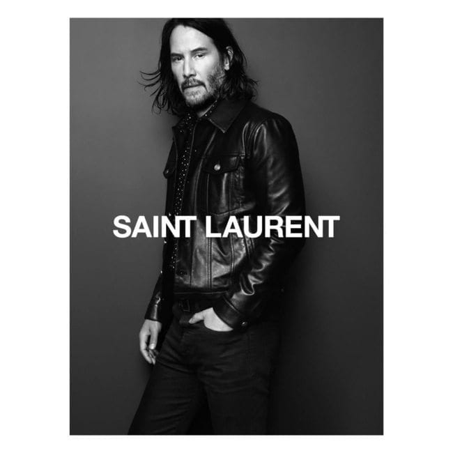 Keanu Reeves is the new face of Saint Laurent
