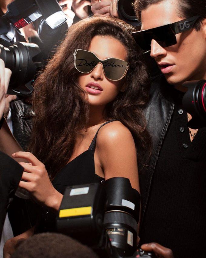 Chiara Scelsi stars in Dolce & Gabbana #DGLogo Eyewear campaign