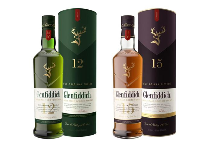 Glenfiddich unveils new look bottles to entice new Scotch drinkers