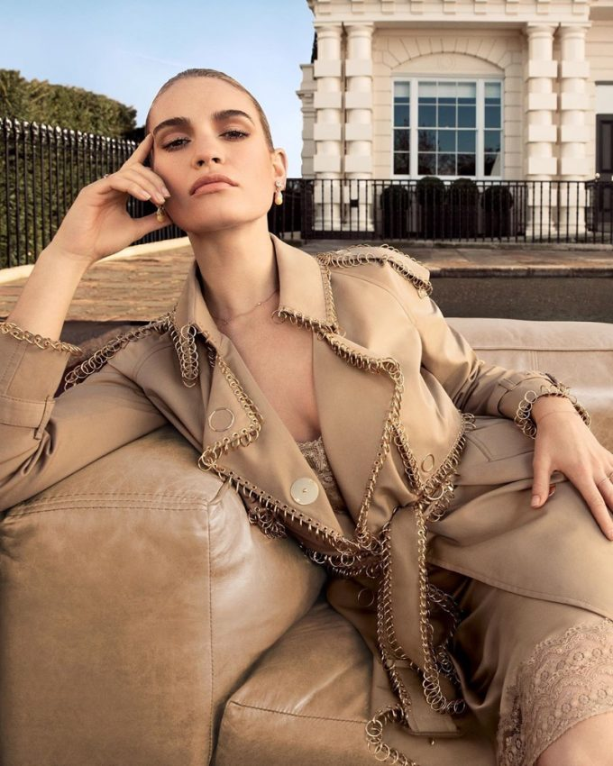 Lily James fronts new 'My Burberry' fragrance campaign
