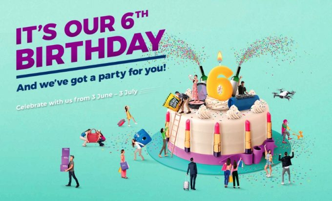 Join the party as iShopChangi celebrates it's 6th birthday with duty-free deals