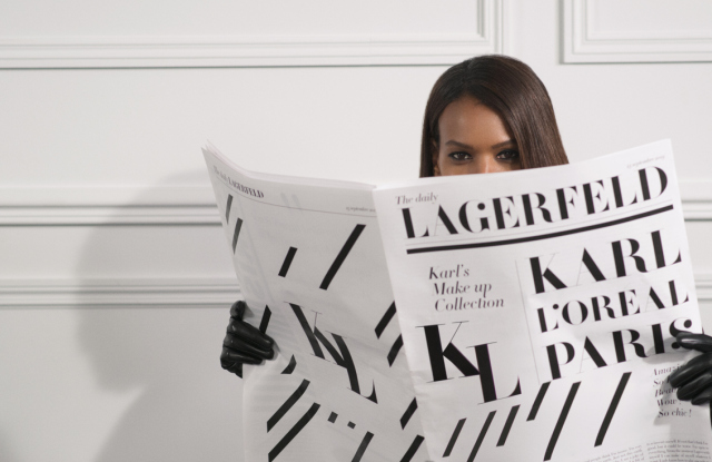Karl Lagerfeld X L'Oreal Paris makeup collection to launch