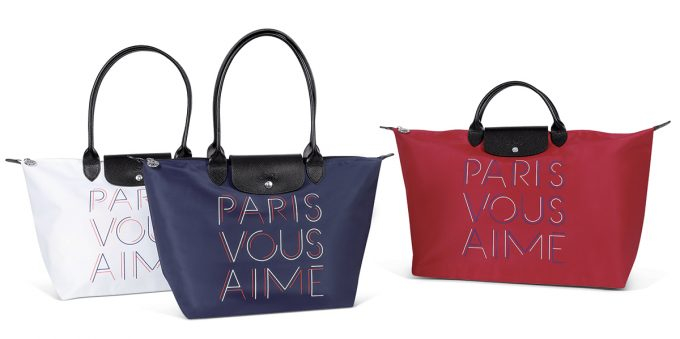 "Paris Aéroport unveils exclusive Longchamp ""Paris vous aime"" limited edition Le Pilage bag"