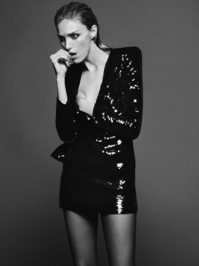 Anja Rubik leads the way in new Saint Laurent campaign