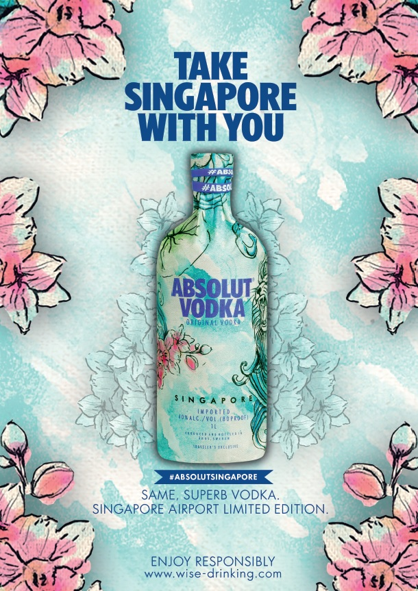 Absolut Singapore: Limited-Edition, Exclusive to Changi Airport, launched with DFS