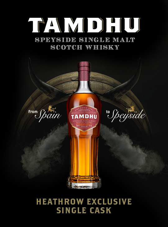 Tamdhu Single Cask on exclusive launch with World Duty Free at Heathrow