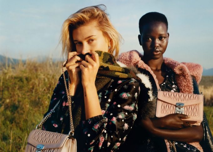 Hailey Bieber leads the Miu Miu Gang in new campaign