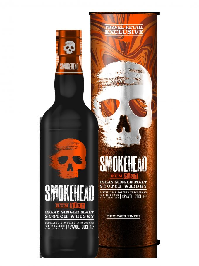 Smokehead looks to shake up malt whisky with duty-free exclusive Rum Riot