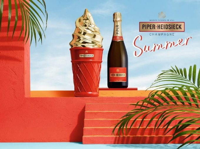 "Piper-Heidsieck reveals Summer Edition ""Ice Cream"" Champagne at Singapore Changi Airport"