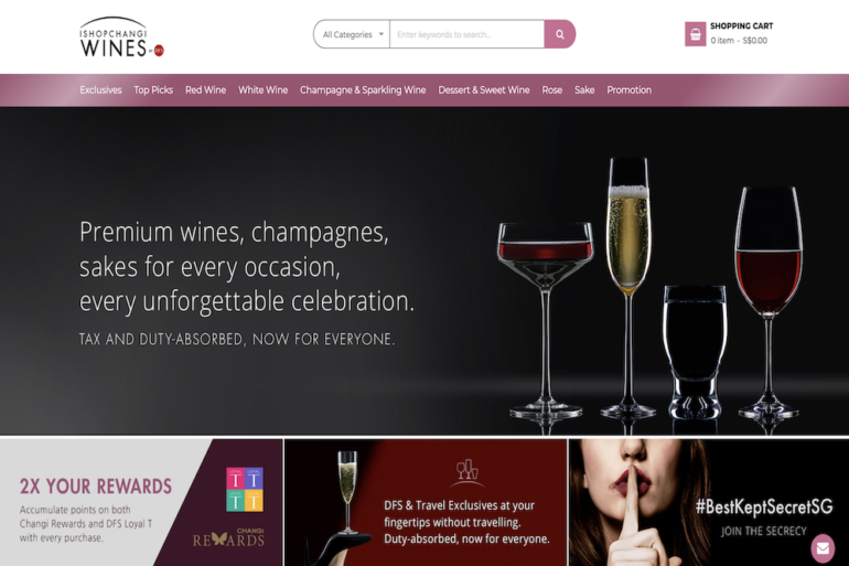 Changi Airport and DFS launch Singapore online liquor store