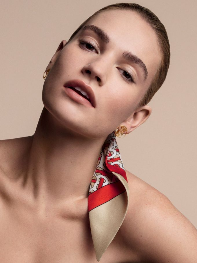 Flawless: Lily James fronts new Burberry Beauty line