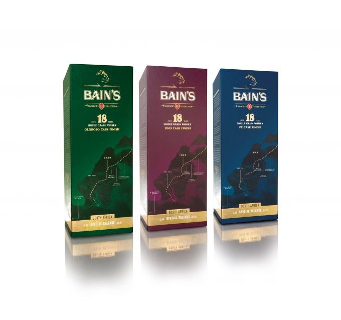 Bain's Cape Mountain Whisky unveils trio of duty-free exclusives