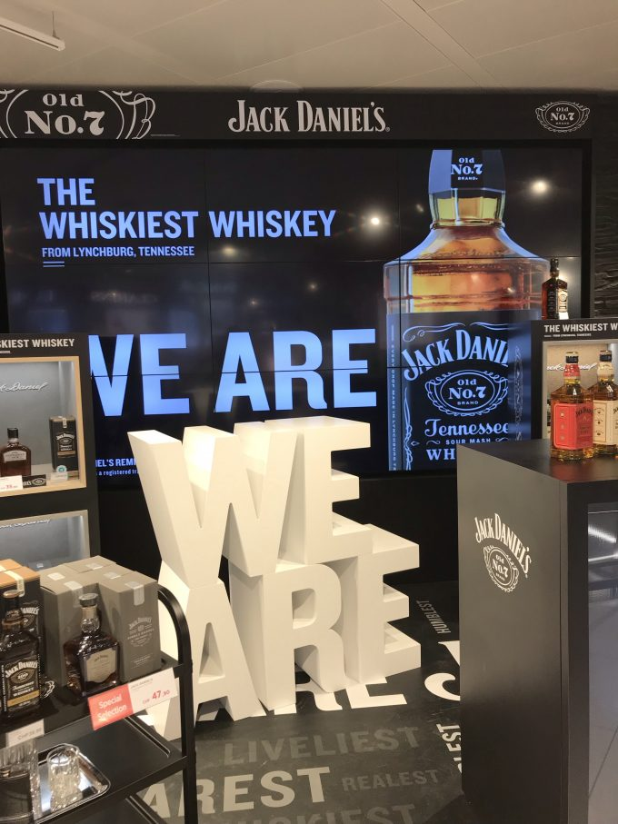 "Jack Daniel's reminds travellers that it's ""the whiskiest whiskey"""