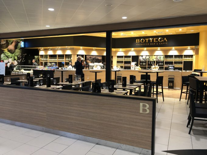 Bottega Prosecco Bar adds fizz to Bologna Airport