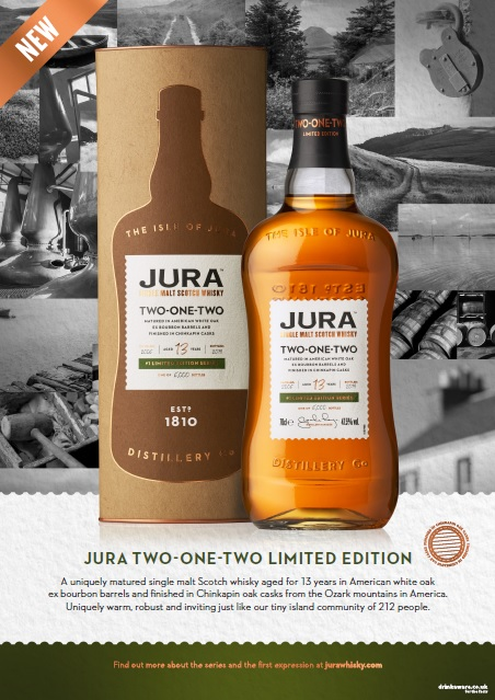 Jura releases limited edition Two-One-Two single malt
