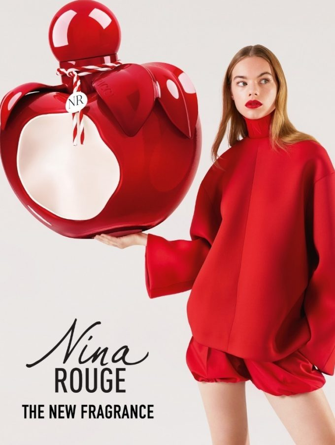 Rouge is the colour for Nina Ricci's new floral scent