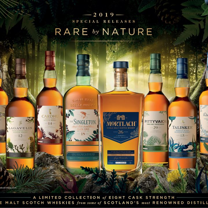 'Rare by Nature' - Diageo launches 2019 Special Releases whisky collection