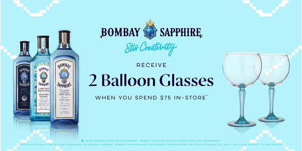 Bombay Sapphire treats travellers at Heinemann Duty Free in Sydney Airport