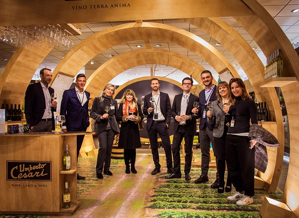 Giant wine barrel rolls into Bologna Airport's Heinemann Duty Free