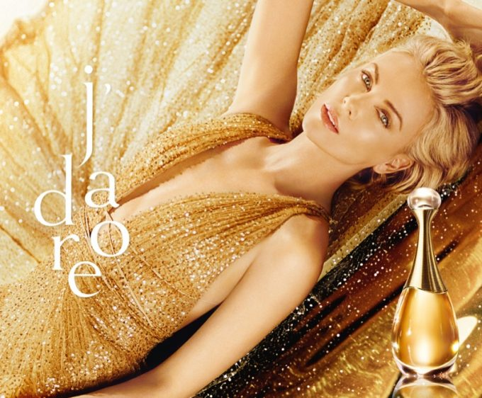 Charlize Theron is the Golden Goddess again in new Dior J'adore campaign