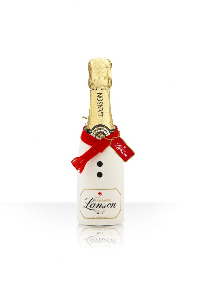 How cool! Champagne Lanson gets festive with its new Christmas bottle pouch