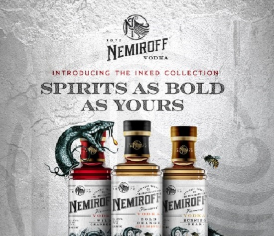Nemiroff Vodka launches Inked Collection in duty-free stores