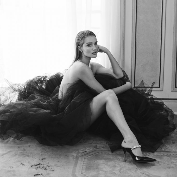 Rosie Huntington-Whiteley steps forward for Jimmy Choo