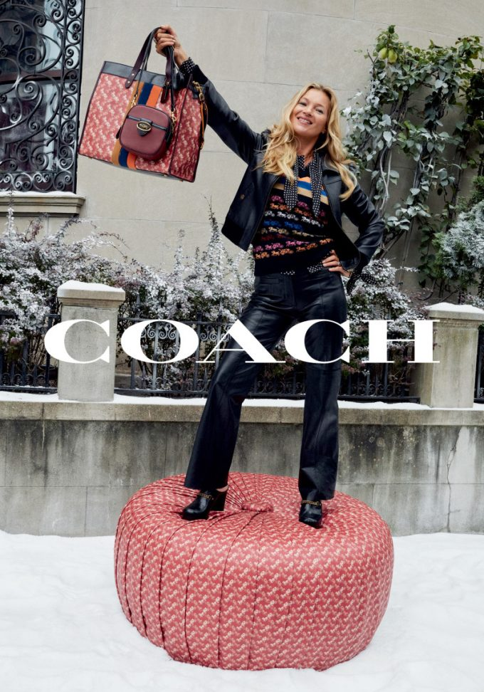 Coach's new Horse and Carriage collection is everywhere – even on Kate Moss