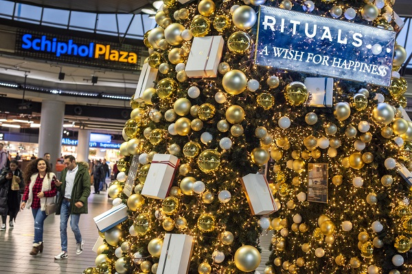 Rituals spreads Christmas cheer with promotions at Schiphol and Copenhagen airports