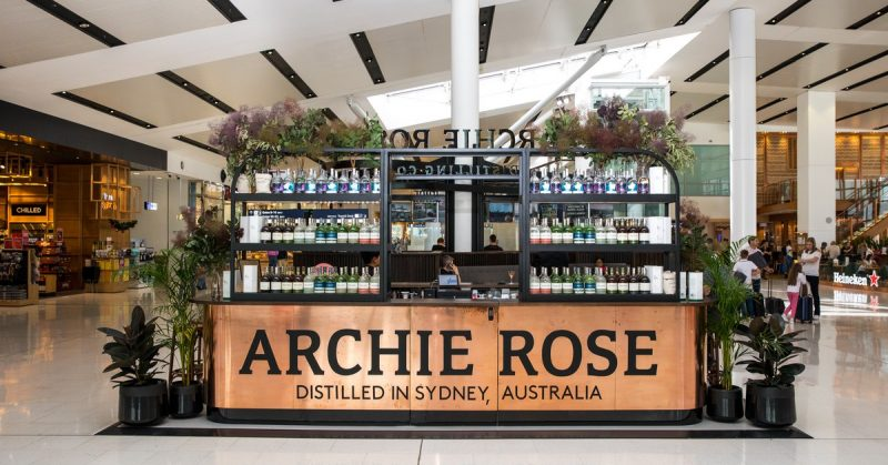 Archie Rose just opened a Cocktail Bar in Sydney Airport's International Terminal