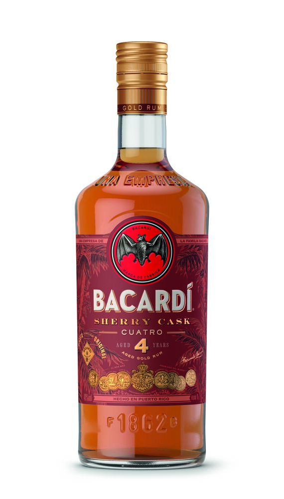Bacardí launches Añejo Cuatro Sherry Cask rum exclusively in duty free