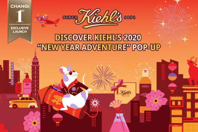 "Kiehl's 2020 ""New Year Adventure"" pops-up at Singapore Changi Airport"