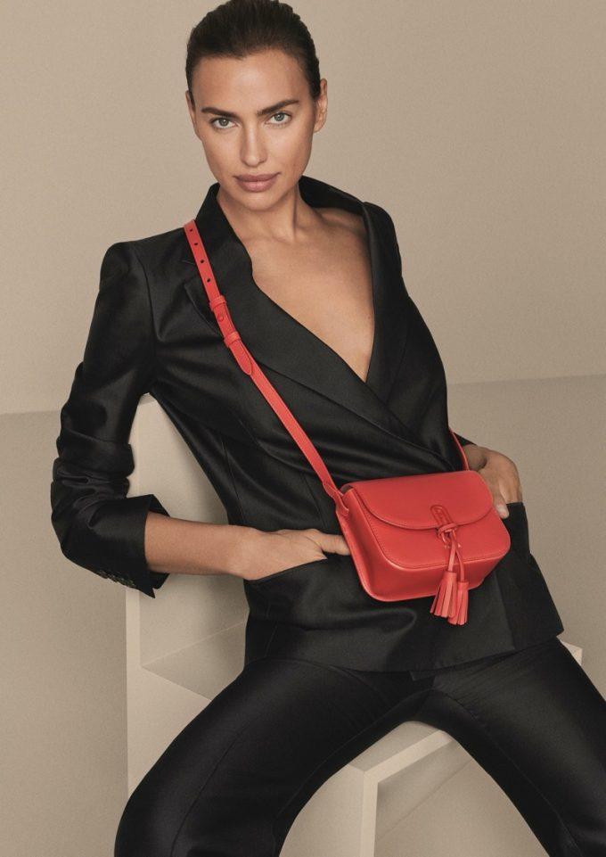 Irina Shayk is front and centre for Furla this season