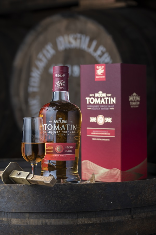 Tomatin releases new luxurious duty-free exclusive 21 year old single malt