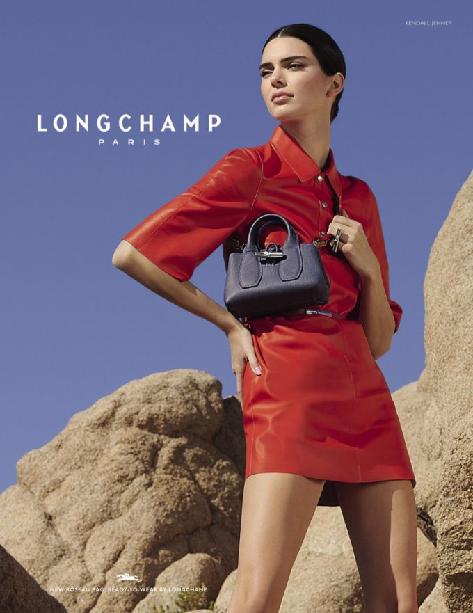 Longchamp, the desert and Kendall Jenner show off new collection
