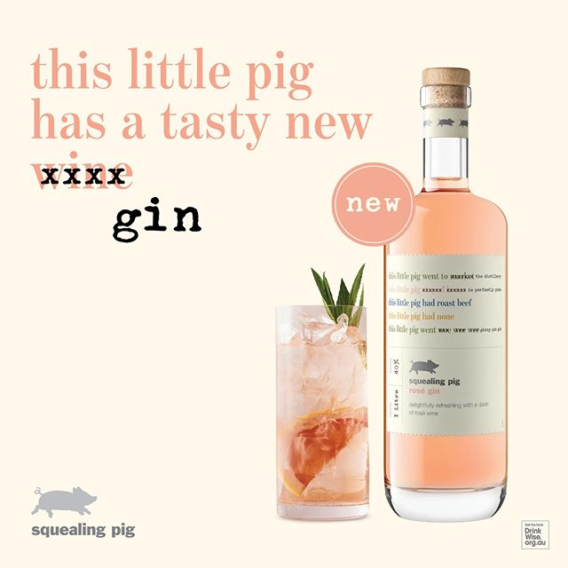 This little pig went to duty-free… Squealing Pig Rosé Gin charms travellers at Sydney Airport
