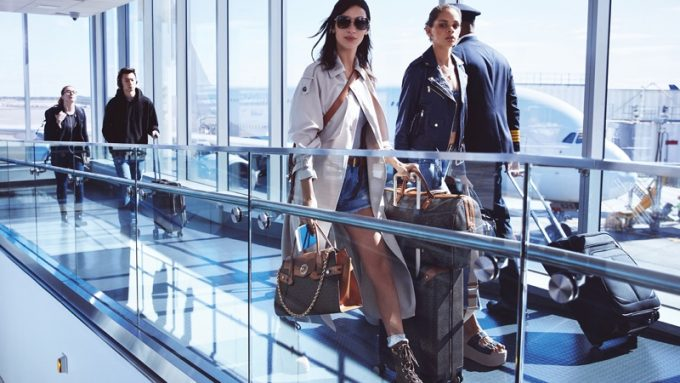Bella Hadid jets out of JFK for new MICHAEL Michael Kors collection