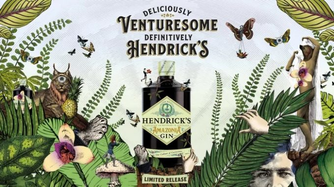 Hendrick's Amazonia gin, an exotic travel exclusive arrives at World Duty Free