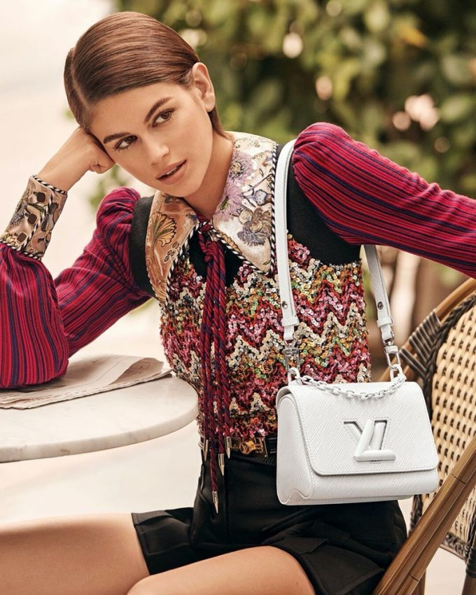 Kaia Gerber debuts for Louis Vuitton in new Twist Campaign